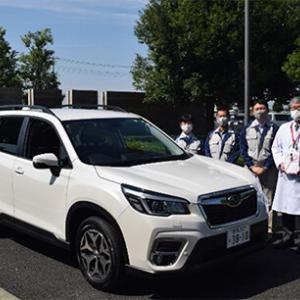 スバルが新型コロナウイルス感染拡大防止に向け、飛沫循環抑制車両を寄贈