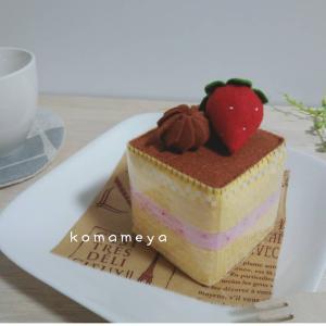 フェルト☆チョコいちごショートケーキ☆*SAKURA*お品書き