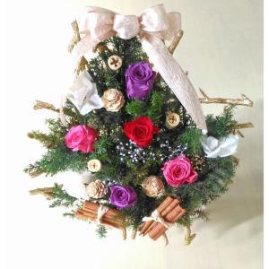 壁に掛けられる☆クリスマスツリー|埼玉 越谷・せんげん台・春日部・岩槻 プリザーブドフラワー教室