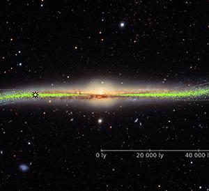 天の川銀河は横から見るとS字にねじれていた