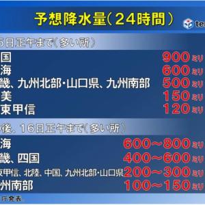台風10号の猛威