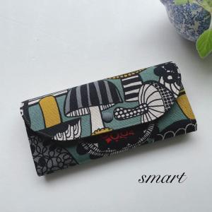 受注製作☆キノコ柄の長財布