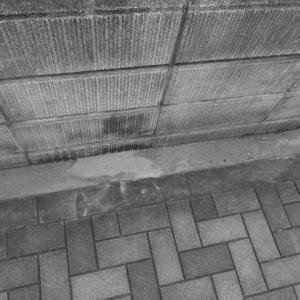 空き地にコンクリートを施工