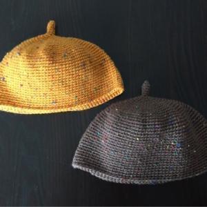 細編みと長編みのどんぐり帽子
