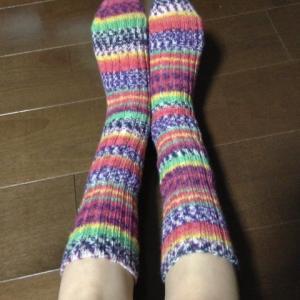 opalで編んだ初めての靴下