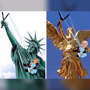 トランプ大統領 Vs. アムロ大統領からのマスク作り