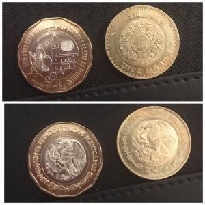 新20ペソ硬貨と10ペソ硬貨は間違えそう!/BARを探して