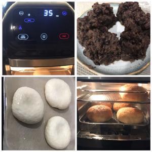 BAKE機能を使って焼きあんドーナツ