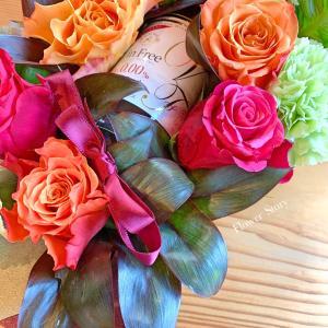 オーダーは金婚式のお祝いのお花♩