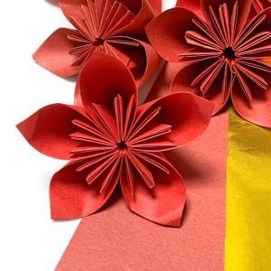 リース用の折り紙のお花♩