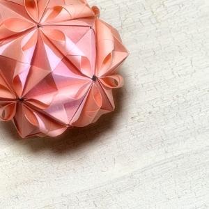 ユニット折り紙で花まり♩