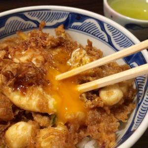 福井市「天菊」@天ぷら屋のかき揚げ丼。そして〆は❛おはぎ天❜!?