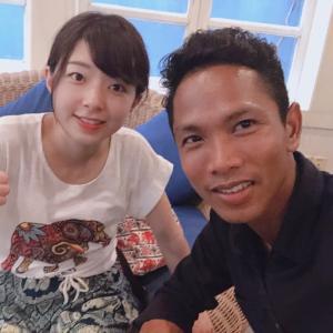 カンボジア女性一人旅記念写真