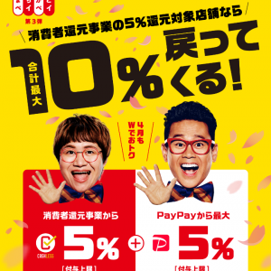 まちかどペイペイ5%(最大250円)