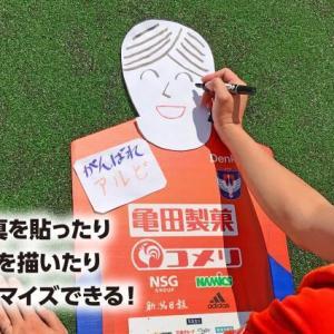 [新潟] 公式!段ボールサポーター「アルボールくん」企画を発表!! 段ボールにイラストや顔写真を あなたの分身がスタンドに!?
