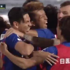 【甲府】今季初の2連勝!! 6年ぶりのゴール MF新井涼平がスーパーミドル! 千葉の反撃を1点に抑えて2-1で勝利