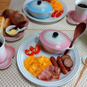 ハッシュドビーフで朝ごはん