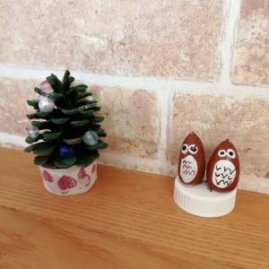 *どんぐりトトロと松ぼっくりのクリスマスツリー