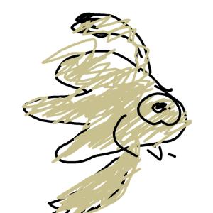 *長女 スマホでお絵描き 魚
