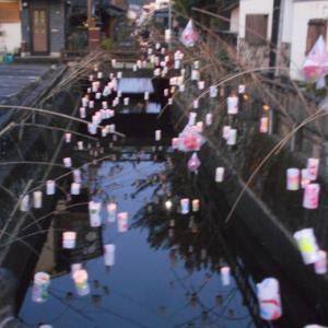 大分県日田市のお祭りの夜 日田千年あかり
