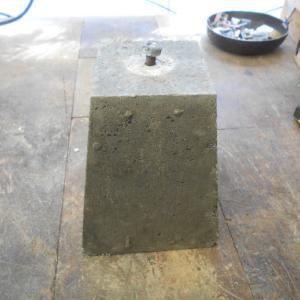 アンカー用の基礎石完成