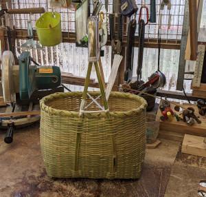 竹の買い物かごを作って見た^^