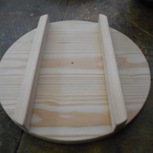 杉板で鍋蓋を作りました
