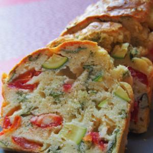 夏野菜のケークサレとパイとミョウガキール
