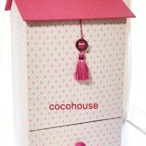 オリジナル作品、トイレロール収納&引き出しは可愛いハウス型、赤い大きなお家、シルバニア風^_^