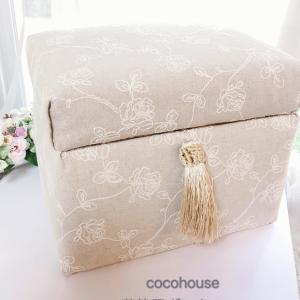 バラの刺繍生地で茶箱風ボックス、セレクトコース終了、チョコのトリミングサロンへチョコちゃんと