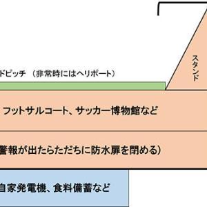 清水の駅前新スタも高床式で 横浜がくれたヒント