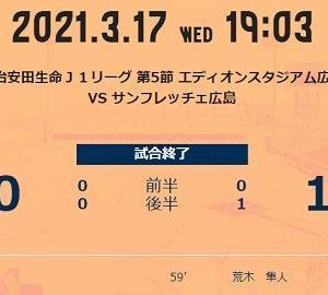 プレイバック:第5節アウェー広島戦