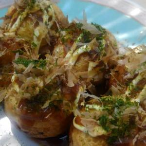 【食】三度目の東京湾産マダコのタコ焼き