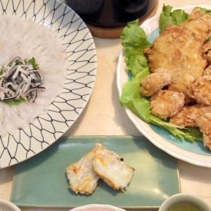 【食】トラフグの刺身・唐揚げ・塩焼き・ヒレ酒