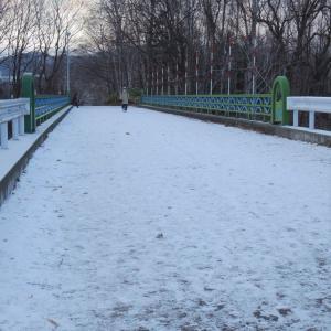 マイナス4℃の公園