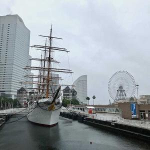 久しぶりの横浜  荒天で人影はまばら