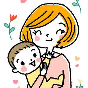 赤ちゃんを抱っこするお母さんのイラスト