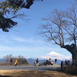 真っ白な富士山を仁保平で!(^^)!
