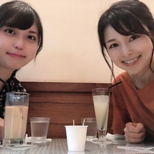 徳島駅前のカフェで生徒さんに会う♡