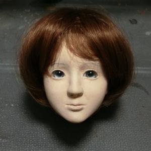 ayumi  5 オリジナル球体関節人形のリメイク フェイス部分の修正をしています
