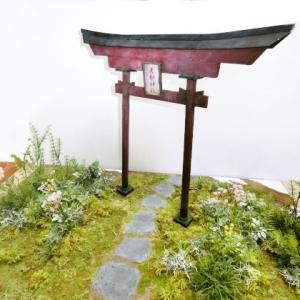 森の神社 4 お花畑を作り直します