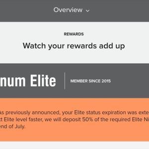 【Marriott】前年度エリートレベルの半分を加算?