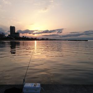 令和初釣り 須磨海岸へ