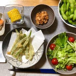 緑ばっかりな晩ご飯