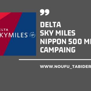 デルタ航空ニッポン500マイルボーナスキャンペーン