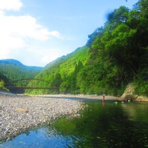 夏の終わりに…川遊びキャンプ~!お次は和歌山~川湯野営場木魂の里~②
