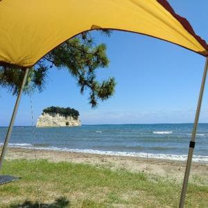 サイトが海に近すぎた。お盆キャンプもこれにて終了!