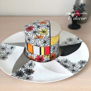 〈生徒様作品〉豪華絢爛♡モダンマーガレットの三段重&扇皿セット