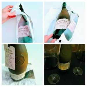 たまには良いワイン(フランス)ボトルが特徴的Châteauneuf du Pape La Fiole Du Pape シャトーヌフ・デュ・パプ