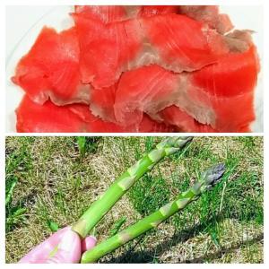 家庭菜園の収穫時期です。「紅鮭」は英語で?そっかい?!カナダ産の美味しいスモークサーモンを使ってお料理、和&洋。